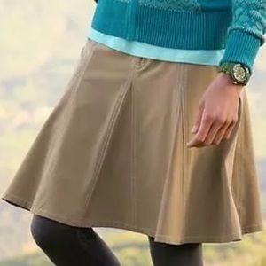 Athleta Khaki Tan Skort Skirt sz 14